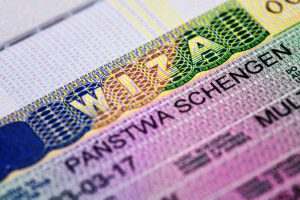 schengen visa stamp in passport